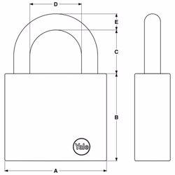 Yale Y300 Maximum Security Steel Padlock 63 mm preview