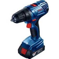 Bosch GSR 180-LI 18V Drill / Driver (2x 1.5 Ah + AL 1814 Charger + Case, Nm Soft/Max 21/54