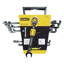 Stanley 4-89-907 Set Of 6 Maxi Drive Plus Combination Ratchet Spanners