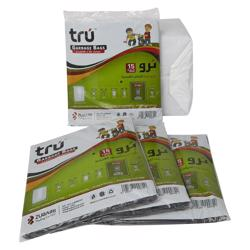 Tru Garbage Bags Virgin - 95x120cm - X-Large - 15pc - 20pkt