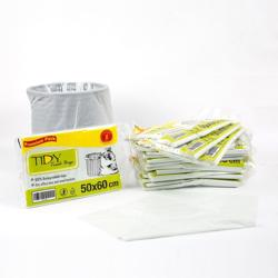 Garbage Bags Heavy Duty Recycle 50x60cm White - Tidy - 20pkt