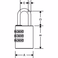 Yale Y150 3-Digit Combination Brass Padlock 22 mm preview
