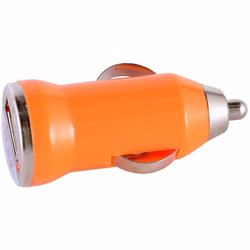 Mini Car Charger For Mobile Phone Orange
