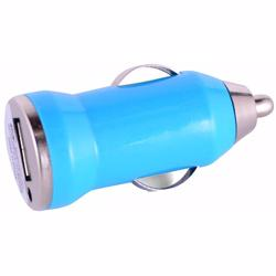 Mini Car Charger For Mobile Phone Blue