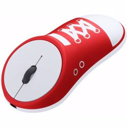 Portable & Durable Mouse Wireless Charging Mouse 2.4g Creative Shoes Pattern Style Photoelectric Mouse Business Office Mute Mouse (Color : Red, Size : 108 * 55 * 23 mm)