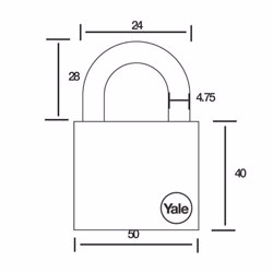 Yale Y126 4-Digit Combination Padlock 50 mm preview