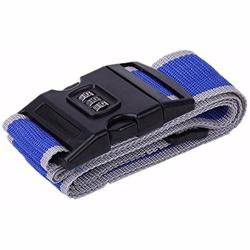 Luggage Strap Belt Rainbow 3 Digits Password Lock, Grey Blue