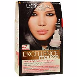 L''''Oreal Paris Excellence Mousse Permanent Foam 2 Pure Black Hair Colou