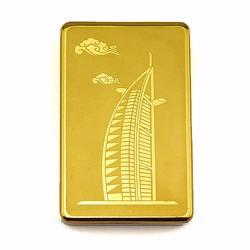 USB-charging Cigarette Lighter, regargeable and flameless - Gold Burj Al Arab