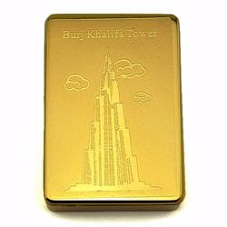 USB-charging Cigarette Lighter, regargeable and flameless - Gold Burj Khalifa Tower