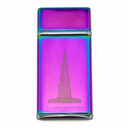 USB-charging Cigarette Lighter, regargeable and flameless - Purple Burj Khalifa