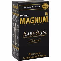 Trojan Magnum BareSkin Lubricated Latex Condoms, 10 Count