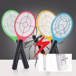Electric Fly Swatter - Bug Zapper - Best High Voltage Handheld Mosquito Killer - Wasp, Fruit Fly, Insect Trap Racket For Indoor, Travel, Camping and Outdoor Control