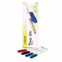 Dollar Pen Clearstick (1x50) - Black (1Box/50pcs)