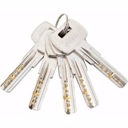 Double Cylinder Door Lock With Dimple/Computerized Key 6 Pin Silver 70 mm preview