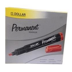 Dollar Permanent Marker (1x12) - Red