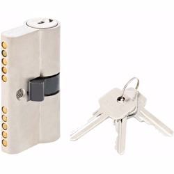 Double Cylinder Lock with Key for Doors 5 Pin Silver 54 mm preview