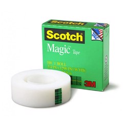 "Scotch Tape White 810 3/4"" U.S.A"