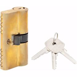 Double Cylinder Lock with Key for Doors 5 Pin Gold 54 mm preview