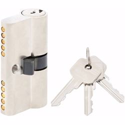 Double Cylinder Lock with Key for Doors 5 Pin Silver 60 mm preview