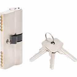 Double Cylinder Lock with Key for Doors 5 Pin Silver 70 mm preview