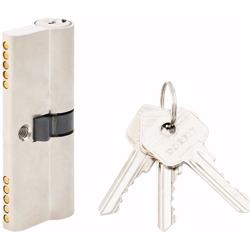 Double Cylinder Lock with Key for Doors 5 Pin Silver 80 mm preview
