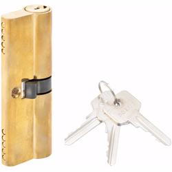 Double Cylinder Lock with Key for Doors 5 Pin Gold 90 mm preview