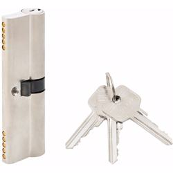 Double Cylinder Lock with Key for Doors 5 Pin Silver 100 mm preview