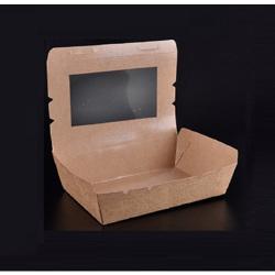 Kraft Take Away Lunch Box With PET Window