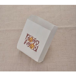 White Snack Paper Bag