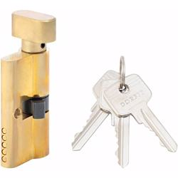 Turn Knob and Key Cylinder Door Lock 5 Pin Gold 60 mm preview