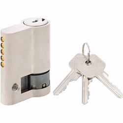 Half Cylinder with Key Door Lock 5 Pin Silver 45 mm