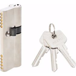 Unequal Double Cylinder Door Lock with Key 5 Pin Silver 30/50 mm preview