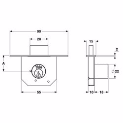 Yale 850 Cabinet Locks for wooden wardrobe and drawers 25mm preview