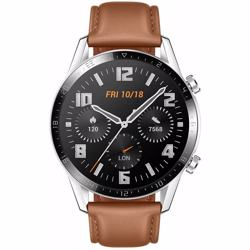 Huawei Watch GT- Saddle Brown Leather  Silicon Strap