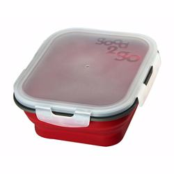 Good 2 Go Rectangle Container 1Ltr- Red