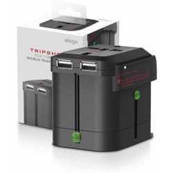 Elago Tripshell Universal Dual USB Travel Adapter - Black