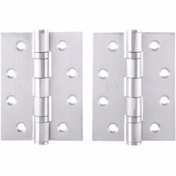 "Dorfit Two Ball Bearing Door Hinges 4""x3""x3 mm SUS316 Silver"