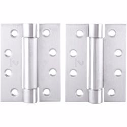 "Dorfit Single Action Self-Closing Spring Hinges For Door 4""x4""x3 mm"
