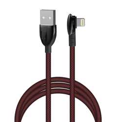 Porodo Zinc Alloy Gaming Lightning Cable 1.2m - Black