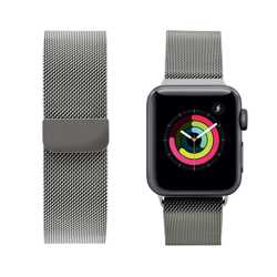 iGuard by Porodo Mesh Band for Apple Watch 44mm / 42mm - Silver