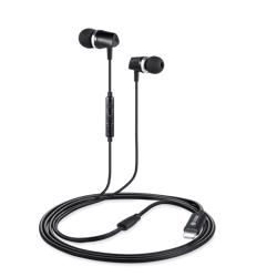 ZM-Rocker-Glitz Zoook Apple MFI Certified Lightning HD Earphones with Mic- Black