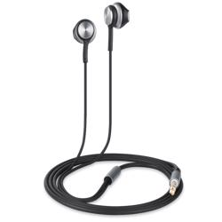 ZM-Lava-BK Zoook Lava-BK Metallic HD Earphones with Xbass & Mic - Silver+Black