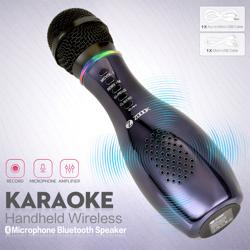 ZB-Karaoke-BK Zoook Handheld Bluetooth Karaoke Mic cum Speaker , HD Sound - Black