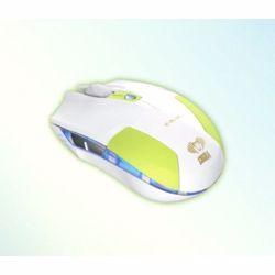 E BLUE EMS128GR Cobra S Compact Optical Gaming USB Mouse - 1600 DPI, White/Green preview