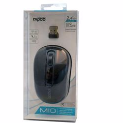 Rapoo M10 Wireless Optical Mouse - Black preview
