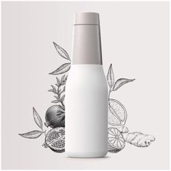 ASOBU Oasis Vacuum Insulated Double Walled Water Bottle White 600 ml