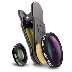 BLACK EYE Universal HD Combo Lens Set HD Wide Angle lens & HD Macro lens, Camera Attachment Lens