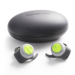 BOOMPODS Boombuds True Wireless Earbuds Gray/Green
