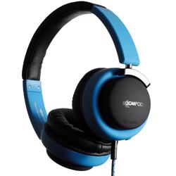 BOOMPODS Hush Wired Active Noise Cancellation Headphone & Travel Bag Blue